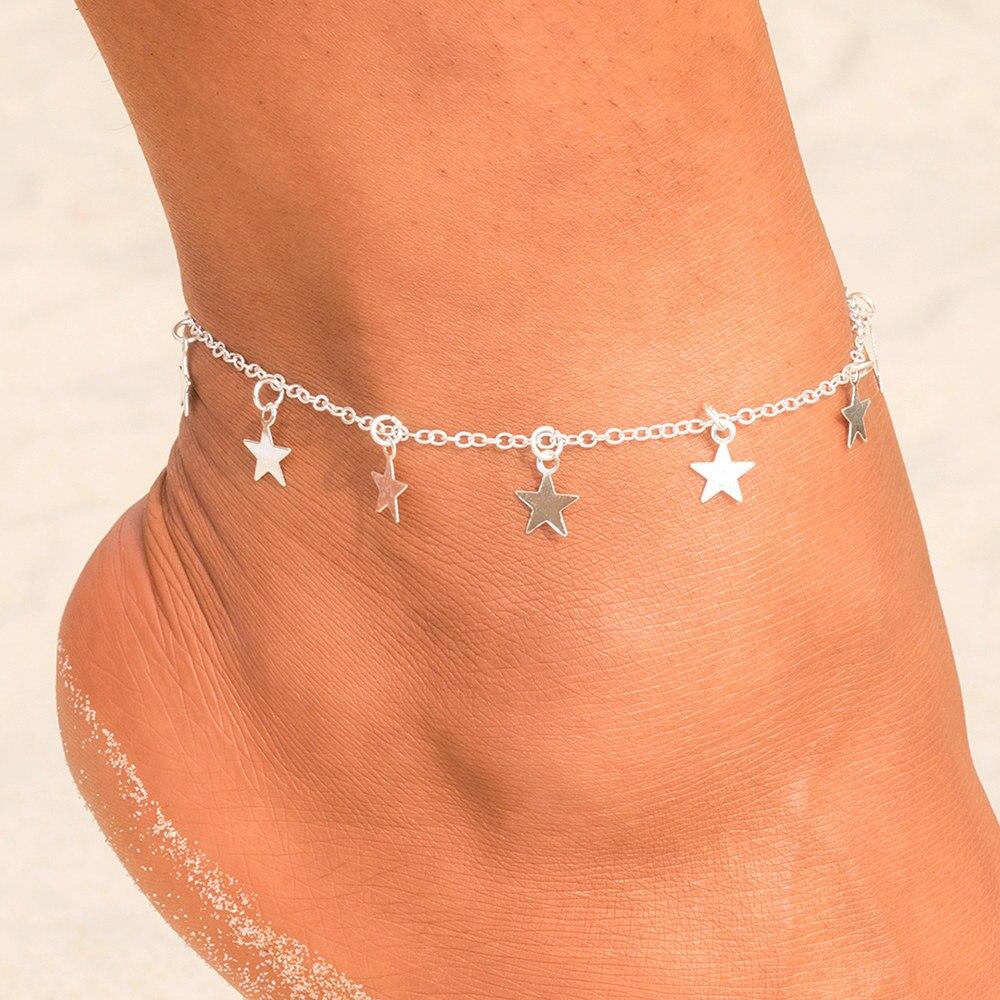 Fashion Charm Women Bohemian Jewelry Bracelets Bracelet Foot Chain Heart Anklet