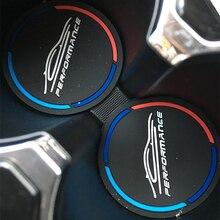 2 adet evrensel araba kupası paspaslar kaymaz Mat silikon su kaymaz Mat kayma kapakları iç dekorasyon araba şekillendirici aksesuarları