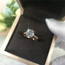 Custom Made 14K Rose Gold Moissanite Ring Round Cut lab Diamond ring Engagement wedding Anniversary Ring For Women moissanite ring 14k rose gold 1 5ct 9x6mm pear cut moissanit engagement ring set bridal ring set for women