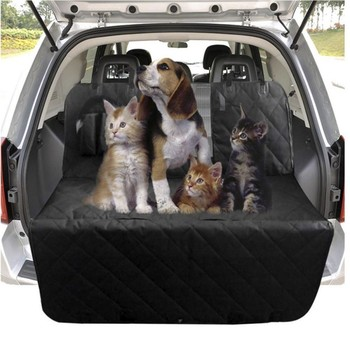 Dog Car Seat Cover View Mesh Pet Carrier Car Pet Waterproof Rear Back Seat Mat Hammock Cushion Protector With Zipper And Pockets