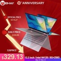 BMAX Y13 Laptop 13.3inch Quad Core Intel N4120 1920*1080 IPS Screen 8GB LPDDR4 RAM 256GB SSD Notebook windows10 pro touch screen