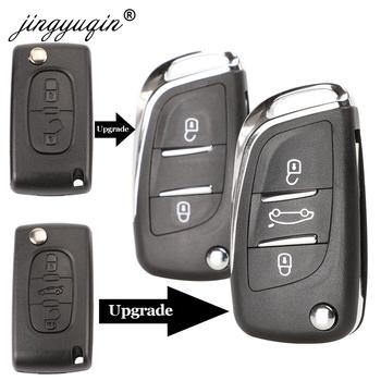 Jingyuqin CE0523 zmodyfikowana klapka obudowa kluczyka dla Citroen C2 C4 C5 Berlingo Xsara Picasso Peugeot 306 407 807 Partner VA2 HU83 2 3BTN tanie i dobre opinie CN (pochodzenie) Car Key fob case For Peugeot ABS + Metal China Key shell Replacement Coupe VTR C2 C4 C5 C6 C8 Berlingo Xsara Picasso