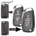 Jingyuqin CE0523 модифицированный чехол для ключей с откидной крышкой для Citroen C2 C4 C5 Berlingo Xsara Picasso Peugeot 306 407 807 Partner VA2/HU83 2/3BTN