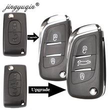 Jingyuqin CE0523, carcasa de llave abatible modificada para Citroën C2 C4 C5 Berlingo Xsara Picasso Peugeot 306 407 807 Partner VA2/HU83 2/3BTN