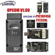 Najnowszy OPCOM V1.65 V1.70 V1.78 V1.95 V1.99 z PIC18F458 FTDI dla opla OP-COM magistrala CAN V1.7 OBD2 samochodu automatyczne narzędzie diagnostyczne
