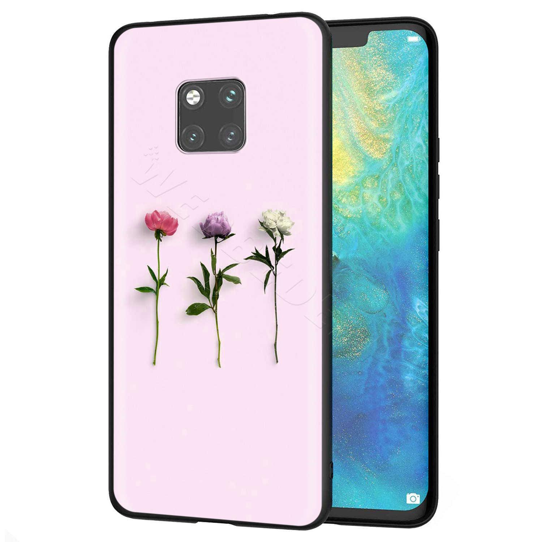 Webbedepp pembe çiçek şakayık kılıfı için Huawei Nova 4E 5 5T P9 Lite akıllı Pro Y6 Y7 2019 başbakan onur 8A 20S