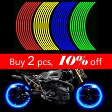 16 шт. Универсальный водонепроницаемый мотоциклетный обод колеса Светоотражающие наклейки мото наклейка с велосипедом на стену 17'/18' для Honda YAMAHA SUZUKI
