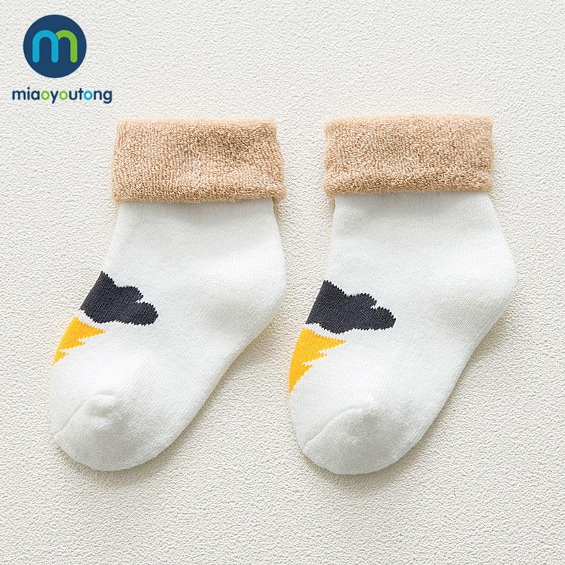 5 pair High Quality Thicken Cartoon Comfort Cotton Newborn Socks Kids Boy New Born Baby Girl Socks Meia Infantil Miaoyoutong 4