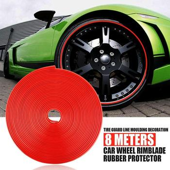 High Quality 8M Roll Rimblades Car Vehicle Color Wheel Protectors Decor Rubber Rims Line Guard Trim IPA NEW Strip Tire Moul F3N2 image