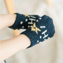 5 Pair Non-slip Baby Socks Autumn Winter Coral Fleece Socks Warm Toddler Boy Girls Floor Infant Thicken Sock