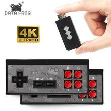 Данные лягушка Беспроводная консоль игровая палка видео игровая консоль встроенный в 568 Классический игровой мини ретро пульт управления HDMI выход двойной плеер