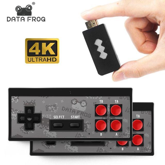 Dữ Liệu Ếch Cầm Tay Không Dây Video TV Máy Chơi Game Được Xây Dựng Năm 568 Trò Chơi Cổ Điển Mini Retro Bộ Điều Khiển HDMI Đầu Ra Kép Cầu Thủ