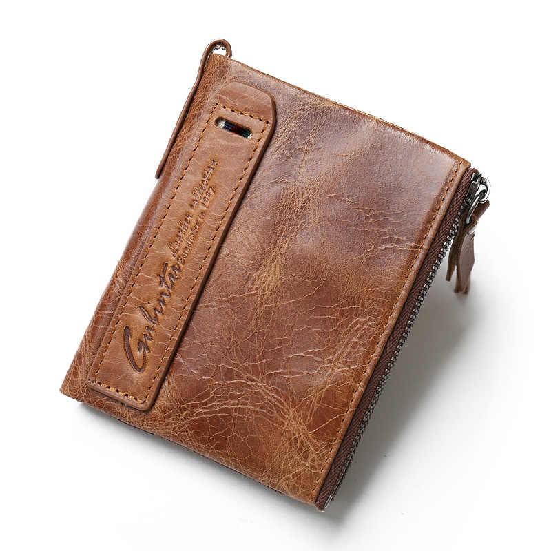 2020 novo nome da gravura livre carteira dos homens 100% couro genuíno carteiras de alta qualidade bolsa moeda bolso saco dinheiro para o presente