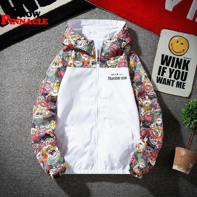 2020 women jackets Winbreaker female Casual Hoodies Jackets Printed Clothes Woman's Hooded Windbreaker female Outwear Streetwear 3