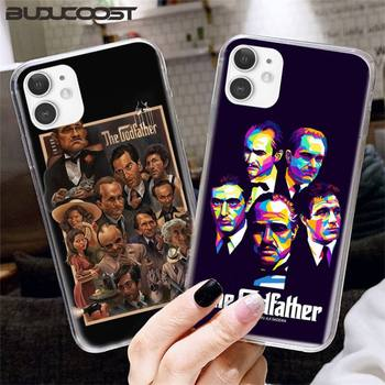 Kenzoe The Godfather Don Corleone Hard Phone Case For Transparent iPhone 12 11 Pro Max SE XSmax XR XS X 8 7 6 Plus image