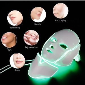 Image 4 - Führte Gesichts Maske 7 Farben Photon Lichttherapie Led Maske Mit Hals Haut Verjüngung Anti Falten Akne Bleaching Schönheit behandlung