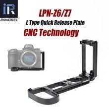 INNOREL – support de plaque à dégagement rapide Z7 L, poignée pour Nikon Z6/Z7, tête de trépied d'appareil photo pour prise de vue verticale ou horizontale