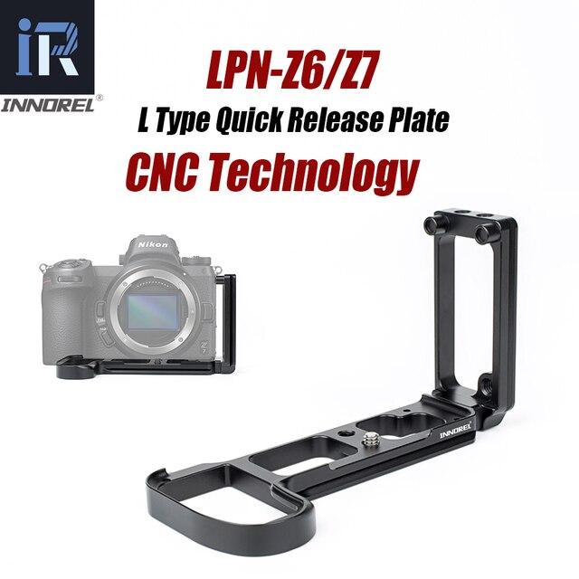 INNOREL LPN Z6/Z7 L Quick Release Plate Bracket Hand Grip for Nikon Z6/Z7 Camera Tripod Head for Vertical or Horizontal Shooting