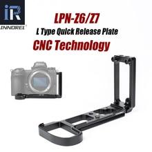Innorel LPN Z6/z7 l placa de liberação rápida suporte aperto de mão para nikon z6/z7 câmera tripé cabeça para tiro vertical ou horizontal