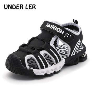 2020 summer kids shoes brand closed toe toddler boys sandals orthopedic sport pu leather baby boys sandals shoes B041 leather sandals boys 2020 100