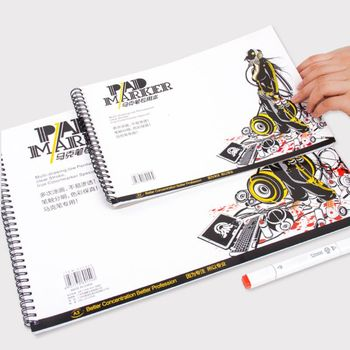 A3/A4/A5 Professional Marker Paper Spiral Sketch Notepad Book Painting Drawing Watercolor  Artist Supplies - discount item  27% OFF Art Supplies