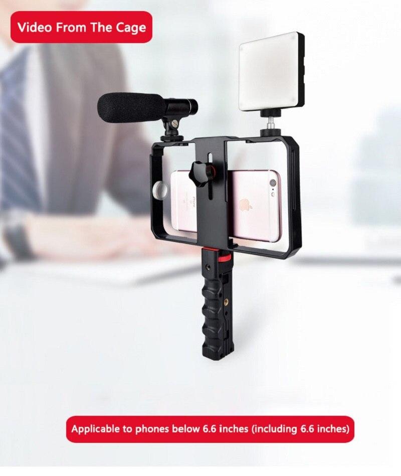 Mcoplus aparat telefon stabilizator dla iPhone Xs Max Xr X 8 Plus 7 dla Huawei dla Samsung S9, 8 na świeżym powietrzu uchwyt na telefon dla Canon Nikon
