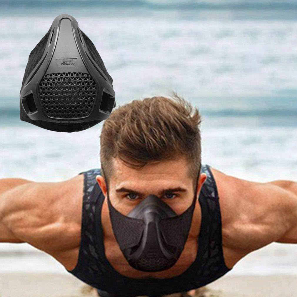Кислородный барьер, Спортивная маска для фитнеса, бега, плато для верховой езды, тренировочная маска на большой высоте, маска для аэробного ...