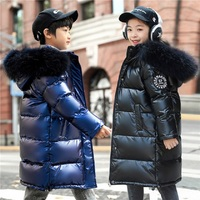 Winter Down Coat for Sisters Outfit Thickening Children Clothes Boys Fur Collar Outerwear Fashion Family Outfits for Fraternal