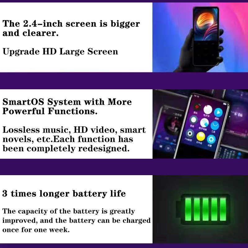 X8 المعادن اللمس شاشة MP4 بلوتوث الموسيقى لاعب للرياضة الركض يدعم مسجل صوتي الكتاب الإلكتروني قارئ الصورة عارض