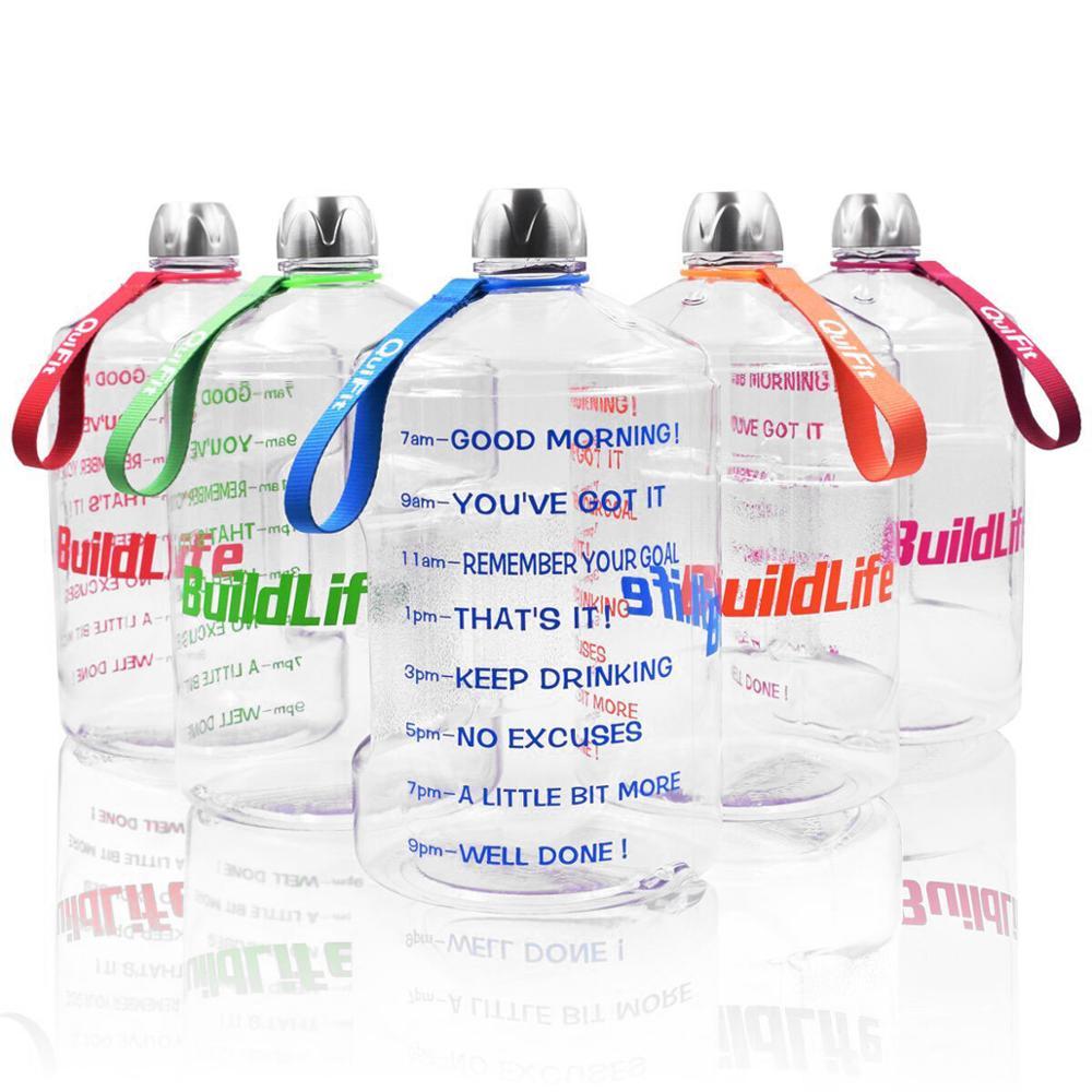 Image 5 - Quifit 128oz 73oz 43oz 1 Gallon BPA Free Plastic Big Drink Water Bottle Jug Gourd For Travel Sports Fitness GYM Waterbottle EcoWater Bottles   -