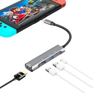 Usb C naar HDMI Dock voor Nintendo Switch naar TV Gamecube Controller Adapter AC Adapter