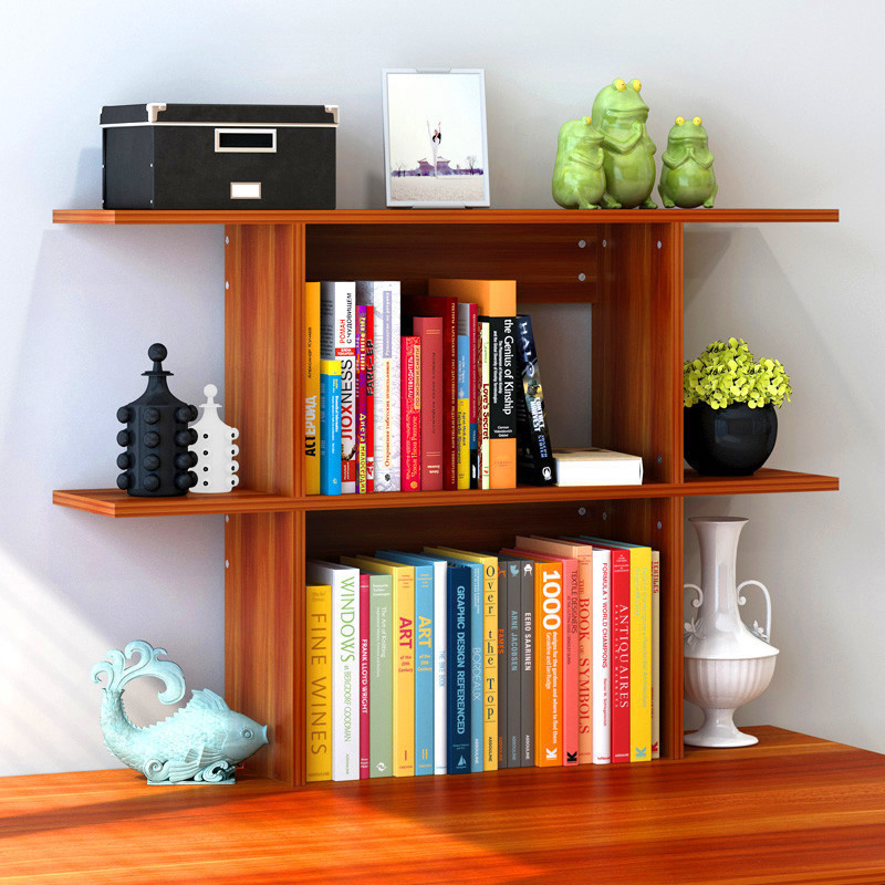Simplicity Wall Desktop Storage Bookshelf Students Organizing Book & Magazine Rack Put Office Desk On Storage Shelf Small Booksh