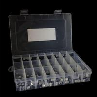 1uF~1000uF 6.3V 50V 400Pcs 24Value SMD Aluminum Electrolytic Capacitors Durable Easy to install Passive Assortment Box Kit