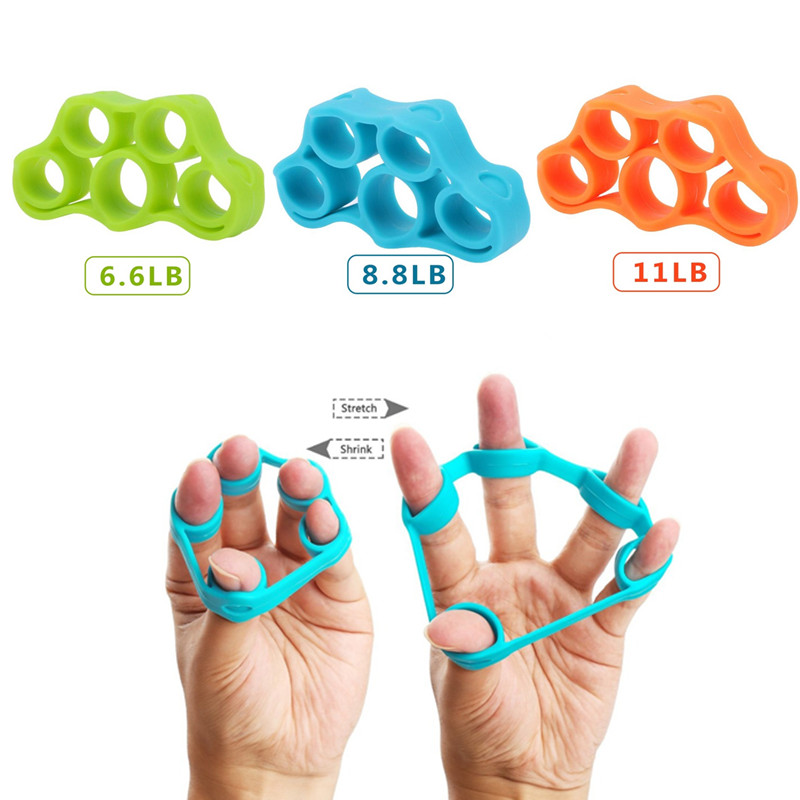 Silicone Hand Grip Strength Finger Gripper Trainer Resistance Band Stretcher Pro