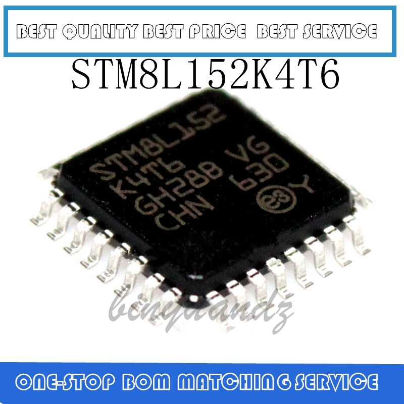 5PCS STM8L152K4T STM8L152K4T6 QFP-32