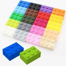 Bloco de construção brinquedo diy moc monta partículas 2x3 peças tijolos educacional presente criativo crianças brinquedos