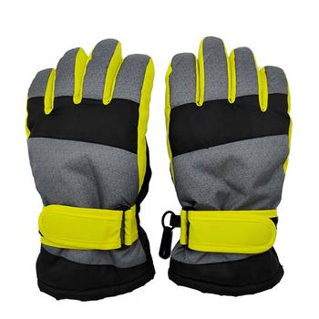 4-7y 8-12y 12-16y dzieci zimowe rękawiczki wodoodporne wiatroszczelne narciarskie chłopcy jazda na zewnątrz rękawice snowboardowe dzieci rękawiczki sportowe dla dzieci tanie i dobre opinie Polyester Stałe Unisex 25*9CM