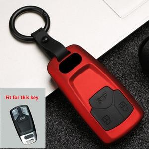 Image 3 - Capa para chave de carro, capa com gel de fibra de carbono abs + sílica para audi q3 q5 sline a3 a5 a6 c5 jaqueta do carkey a4 b6 b7 b8 tt 80 s6 c6, com controle remoto