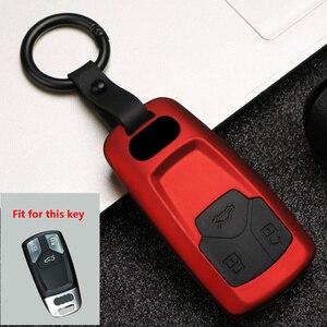 Image 3 - New ABS+Silica gel Carbon fiber Car Key Cover Case For Audi Q3 Q5 Sline A3 A5 A6 C5 A4 B6 B7 B8 TT 80 S6 C6 Remote carKey Jacket