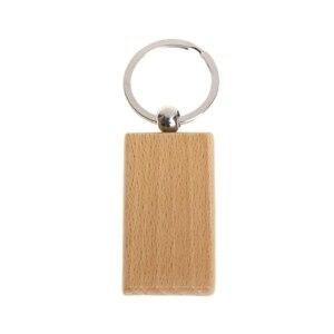50 пустой деревянный брелок прямоугольный гравировальный Ключ ID может быть выгравирован DIY