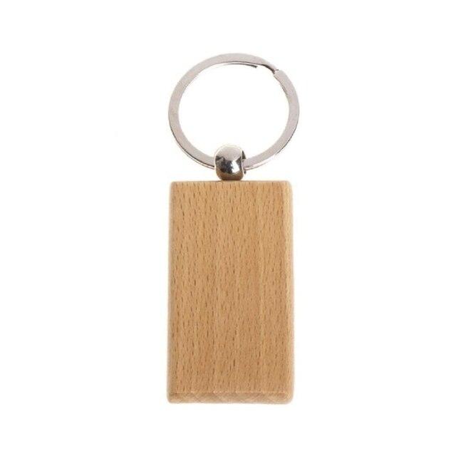 50 pusty drewniany brelok prostokątny grawerowany klucz ID może być grawerowany DIY