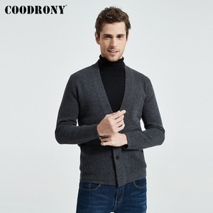 Image 1 - Coodrony marca camisola masculina streetwear moda camisola casaco masculino com bolsos outono inverno quente cashmere lã cardigan 91105