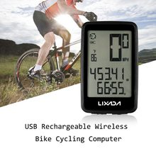 Lixada USB Rechargable Bike Computer Speedometer For Bicycle Computer Wireless Waterproof MTB Cycling Odometer With Speed Sensor стоимость
