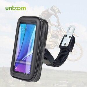 Image 1 - Untoom Motorrad Telefon Halter Moto Rückspiegel Lenker Ständer Halterung Roller Motorrad Wasserdichte Tasche Unterstützung Handy