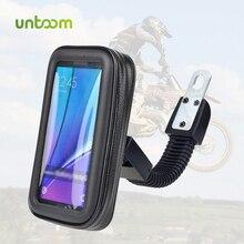 Untoom Soporte de teléfono para motocicleta, espejo retrovisor para Moto, soporte para manillar, bolsa impermeable para teléfono móvil
