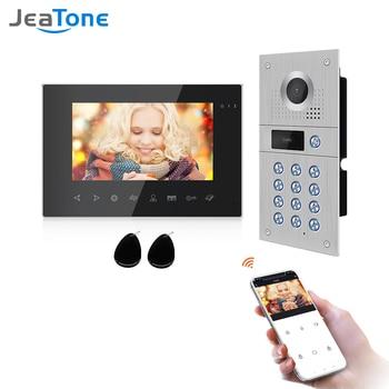 Jeatone 7 Inch  960P WiFi Smart Video Door Phone Video Intercom Code Keypad/RFID Card/APP Unlock Motion Detection Access Control цена 2017
