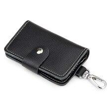 Key-Organizer Keys Genuine-Leather Keychain-Case Belt-Wear Multifunctional Housekeeper