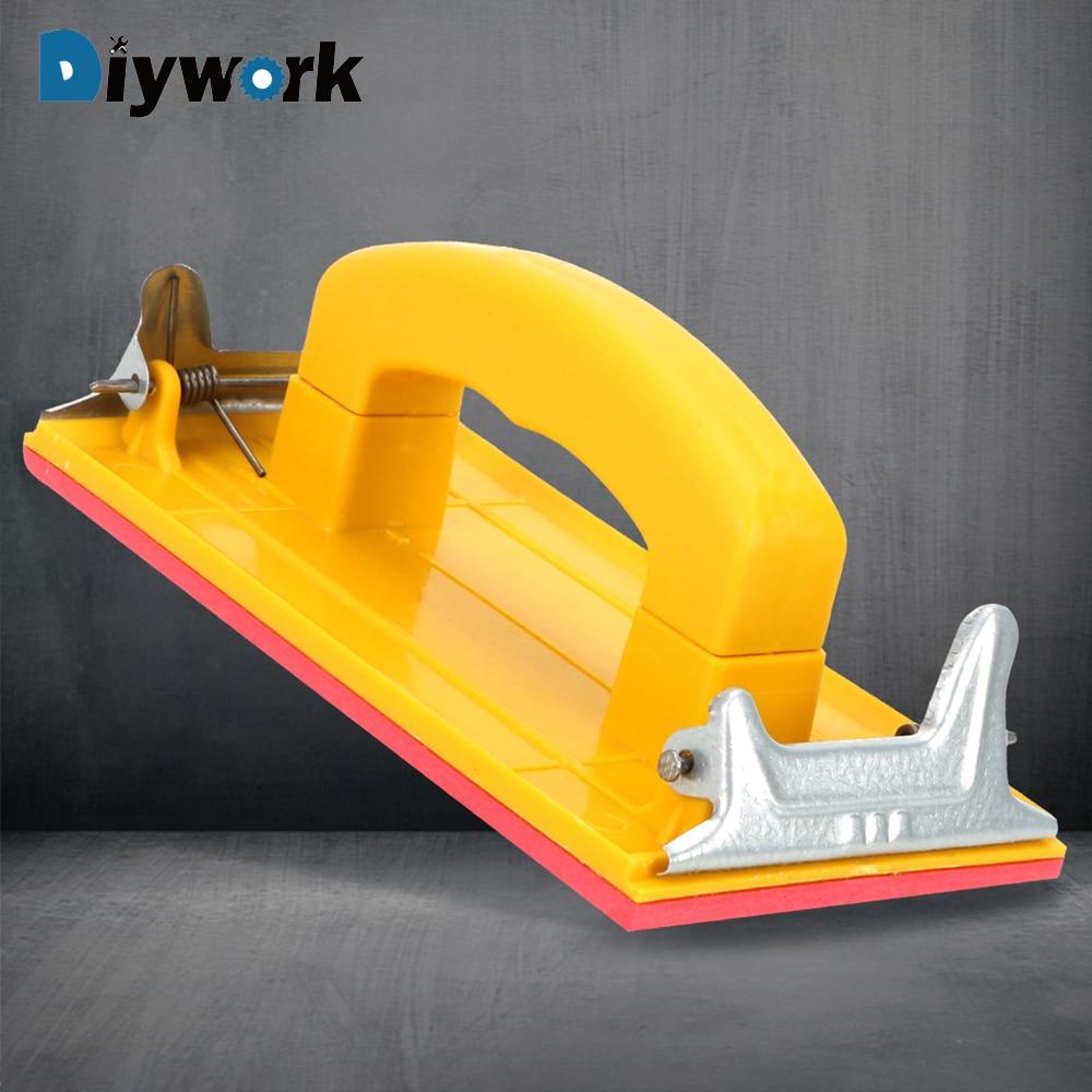 DIYWORK Sandpaper Holder Grinding Polished Tools For Polishing Walls Sanding Woodworking Universal Efficiency General Purpose