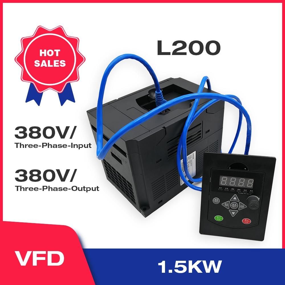 Angisy 1.5KW 380V 3-фазы Вход и 380V 3-фазы Выход Частотный преобразователь 60 Гц до 50 Гц L200