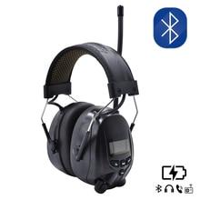 واقي تكتيكي للأذن مزود بتقنية البلوتوث وبطارية ليثيوم للحماية من السمع وراديو FM/AM